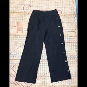 Pants - Vintage/Retro linen button leg pant size small